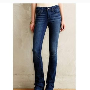 Anthro Pilcro Stretchy Dark Wash Slim Bootcut 👖